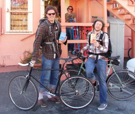 Bikes and Books at Bookbuyers Monterey