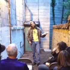 Host Brian Sheffield - Back Alley Poetry I June 3rd, 2014