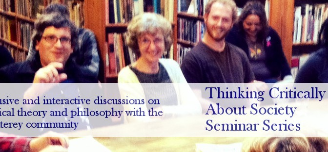 Thinking Critically About Society Winter 2015 Seminar Series