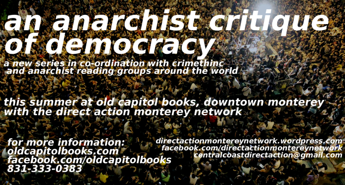 Theory & Philosophy Reading Group: Anarchist Critiques of Democracy
