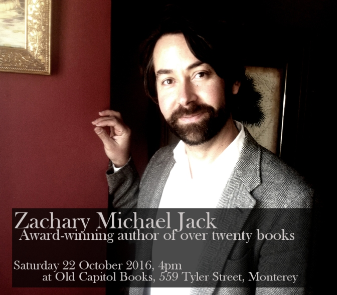 Professor and Award-Winning Author, Zachary Jack, to appear at Old Capitol Books