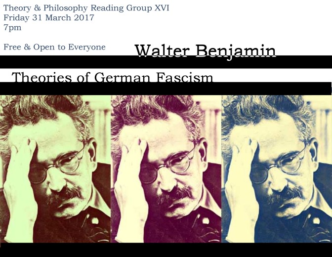 Theory & Philosophy Reading Group 26: Walter Benjamin
