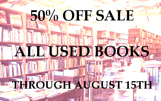 Summer Sale – 50% off all used books!