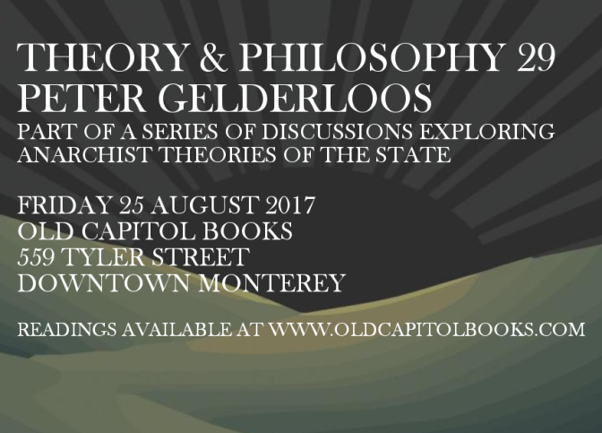 Theory & Philosophy Reading Group 29: Peter Gelderloos