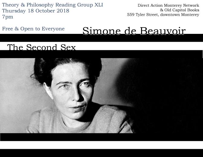 Theory & Philosophy Reading Group 41: Simone de Beauvoir