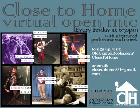 Virtual Open Mic Flyer 2 - May June