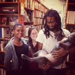 Booksellers Ryan, Stephanie, and Ali with TURK